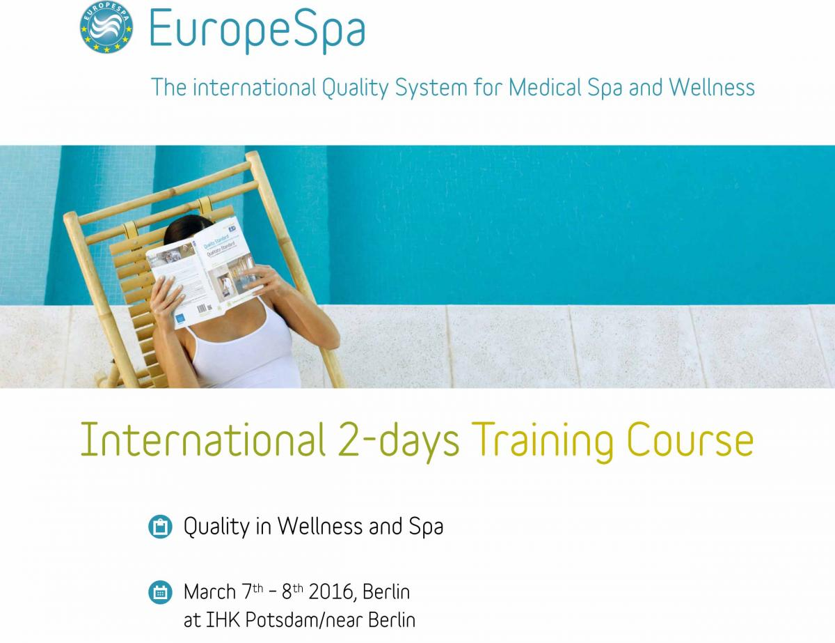 TRAINING COURSE ON QUALITY IN WELLNESS & MEDICAL SPA